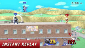 Tumblr, youtube.com, and Mario: P4  0:38.15  P2  DRUG  STORE  8  INSTANT REPLAY Le  LINK  DR. MARIO isquirtmilkfrommyeye: thatmetticguy:   onceinamillenniumgenius:   thatmetticguy:  (x)  What the FUCK just happened? Someone PLEASE explain to me what just happened!   Ness's FSmash has a few active frames where it can reflect projectiles reflected projectiles have increased damage and speed so link shot the fully charged arrow,  ness reflected it with FSmash, doc reflected it with cape, which reflected back on ness's still active FSmash frames, reflected on doc's cape AGAIN and then ONE MORE TIME on Ness' Fmash, leading to 140% death arrow with a hitbox so stretched that it hit both of them