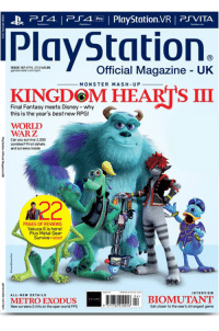 storm-driver:  minakokc: Uk PlayStation magazine cover of Kingdom Hearts 3 looks great  I don't believe it… : P4 PlyStation.VR PSVITA  PlayStation.  İSSUE 147 APRL 2018 essa  gamesra5ar.com/opm  Official Magazine UK  MONSTER MASH-UP  KINGDOM HEARTS III  Final Fantasy meets Disney -why  this is the year's best new RPG!  WORLD  WARZ  Can you survive 1,000  zombies? First details  and screens inside  A22  PAGES OF REVIEWS  Yakuza 6 is here!  Plus Metal Gear  Survive rated  INTERVIEW  A11.NEw DETAILS  04  METROEXODUS  İBIOMUTANT  Now screens &info on the open world FPS  771752? 10016  Got closor to the year's strangeat game storm-driver:  minakokc: Uk PlayStation magazine cover of Kingdom Hearts 3 looks great  I don't believe it…