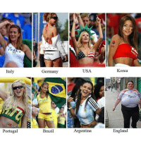 World Cup supporters! LOL!: ITALY  Italy  Portugal  GERMANY  Germany  pRAzil  Brazil  USA.  Argentina  Korea  England World Cup supporters! LOL!