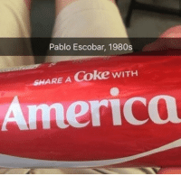 Pablo Escobar expands his drug empire (circa 1982): Pablo Escobar, 1980s  SHARE A Coke wITH  America Pablo Escobar expands his drug empire (circa 1982)