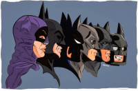 """Batman, Facebook, and Instagram: PACHU Good Knight Gothamites! Tomorrow we'll continue this week's history session """"The Forgotten Shadow of the Bat in the 1980s""""! I leave you tonight with a brief Batman evolution by illustrator Pachu Torres @Pachu_M_Torres! To see more of @Pachu_M_Torres' artworks, please check out their websites at Pachumtorres.com and Twitter.com-Pachumtorres! Which Batman on tv and in film is your favorite? As always, thanks for following here on Instagram, on Twitter (HistoftheBatman), Tumblr, Facebook (HistoryoftheBatman), subscribing to my """"History of the Batman with Londyn!"""" podcast (https:-itun.es-us-DOPM7.c) and my YouTube channel (LINKED IN THE BIO), it is always greatly appreciated! Have a great night and we will have more History of the Batman tomorrow. Remember Gothamites, it's all about Peace, Love and Batman! ✌🏼💙🦇🎨📽📺"""