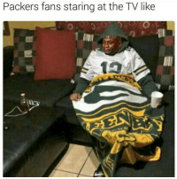 packers fan: Packers fans staring at the TV like