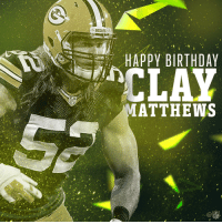 Birthday, Memes, and Happy Birthday: PACKERS  HAPPY BIRTHDAY  CLAY  ATTHEWS Join us in wishing @packers LB @ClayMatthews52 a Happy Birthday! 🎉 https://t.co/zRhKtGhNux