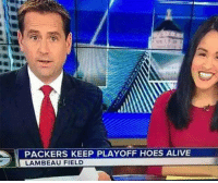Alive, Football, and Hoes: PACKERS KEEP PLAYOFF HOES ALIVE  LAMBEAU FIELD Thank goodness!! https://t.co/55wZymHRkl