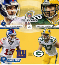 GameDay GiantsPride 🏈: PACKERS  WILDCARD  ny  NEW YORK GIANTS VS  GREEN BAY PACKERS  E L I  A A R O  M A N N I N G  PACERS  my  GIANTS PRIDE GameDay GiantsPride 🏈