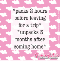 Memes, Coming Home, and 🤖: *packs 2 hours  before leaving  for a trip*  unpacks 3  months after  coming home*  Facebook.com Aqueensofsassy I have other priorities... like napping 😴  #QueensofSass