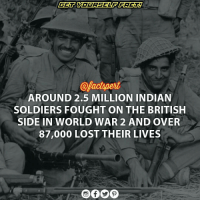"""THE FORGOTTEN HEROES OF THE WW2"" . • In 1939 the British Indian Army numbered 205,000 men. It took in volunteers and by 1945 was the largest all-volunteer force in history, rising to over 2.5 million men.These forces included tank, artillery and airborne forces. British Indian Army earned 17 Victoria Crosses during World War II • The British Raj, as part of the AlliedNations, sent over 2.5 million soldiers to fight under BritishCommand against the Axis powers. Additionally, several Indian PrincelyStates provided large donations to support the Allied campaign during the War • FieldMarshal Sir Claude Auchinleck, Commander-in-Chief of the Indian Army from 1942 asserted that the British ""COULDN'T HAVE COME THROUGH BOTH WARS [WORLD WAR 1 AND 2] IF THEY HADN'T HAD THE INDIANARMY."" • the Indian National Congress, demanded independence before it would help Britain. London refused, and when Congress announced a "" QuitIndia"" campaign in August 1942, its leaders were imprisoned by the British for the duration • Several leaders of the radical revolutionary Indian independence movement broke away from the main Congress and went to war against Britain. SubhasChandraBose, once a prominent leader of Congress, volunteered to help Germany and Japan; he said Britain's opposition to Nazism and Fascism as ""hypocrisy"" since it was itself violating human rights and denying individual liberties in India • After the end of the World War, India emerged as the world's fourthlargest industrial power and its increased political, economic and military influence paved the way for its independence from the UnitedKingdom in 1947. • India's major contribution changed the course of WW2 but is often forgotten. . HIT LIKE 👍: @pactspert  AROUND 2.5 MILLION INDIAN  SOLDIERS FOUGHT ON THE BRITISH  SIDE IN WORLD WAR 2 AND OVER  87,000 LOST THEIR LIVES ""THE FORGOTTEN HEROES OF THE WW2"" . • In 1939 the British Indian Army numbered 205,000 men. It took in volunteers and by 1945 was the largest all-volunteer force in history, rising to over 2.5 million men.These forces included tank, artillery and airborne forces. British Indian Army earned 17 Victoria Crosses during World War II • The British Raj, as part of the AlliedNations, sent over 2.5 million soldiers to fight under BritishCommand against the Axis powers. Additionally, several Indian PrincelyStates provided large donations to support the Allied campaign during the War • FieldMarshal Sir Claude Auchinleck, Commander-in-Chief of the Indian Army from 1942 asserted that the British ""COULDN'T HAVE COME THROUGH BOTH WARS [WORLD WAR 1 AND 2] IF THEY HADN'T HAD THE INDIANARMY."" • the Indian National Congress, demanded independence before it would help Britain. London refused, and when Congress announced a "" QuitIndia"" campaign in August 1942, its leaders were imprisoned by the British for the duration • Several leaders of the radical revolutionary Indian independence movement broke away from the main Congress and went to war against Britain. SubhasChandraBose, once a prominent leader of Congress, volunteered to help Germany and Japan; he said Britain's opposition to Nazism and Fascism as ""hypocrisy"" since it was itself violating human rights and denying individual liberties in India • After the end of the World War, India emerged as the world's fourthlargest industrial power and its increased political, economic and military influence paved the way for its independence from the UnitedKingdom in 1947. • India's major contribution changed the course of WW2 but is often forgotten. . HIT LIKE 👍"