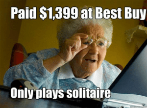 Best Buy, Meme, and Solitaire: Paid $1,399 at Best Buy  Only plays solitaire  quickmetmacom Taking Quickmeme Waffle Stomp Meme   www.picsbud.com