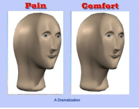 inspirational meme man: Pain  Comfort  A Dramatization inspirational meme man