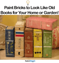 This is such a cute idea.: Paint Bricks to Look Like Old  Books for Your Home or Garden!  THE  WIZARD  (JF  OZ  ON  THE  ROAD  교  ExploreTalent☆  THE TALE OF  PETER  RABBIT  uaulQNA  ④ ④(シ... To nIL  <)() ()% Mockingbird  ockihelsind This is such a cute idea.