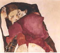 paintdeath:  Two Girls (Lovers), 19011, Egon Schiele: paintdeath:  Two Girls (Lovers), 19011, Egon Schiele