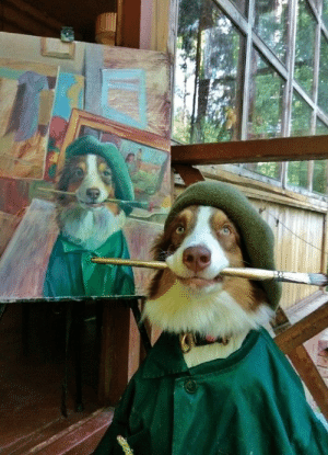 Dog, Vinci, and Salvador: Painter. Vincent van Dog, Salvador Dogi or Leodoggo de Vinci?