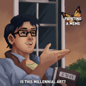 Tumblr, Blog, and Spirit: PAINTING  AMEME  王智辉  HUT  IS THIS MILLENNIAL ART? miracu-less:   melonmemes:  The spirit of a Generation  You've gone too far.