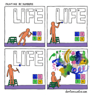 srsfunny:It's Not About Being Perfect: PAINTING BY NUMBERS  1 2 34  2  2  3114  dorrsmccomics.com srsfunny:It's Not About Being Perfect