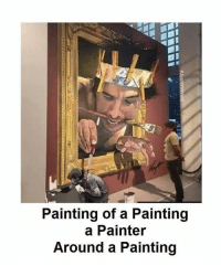 painter: Painting of a Painting  a Painter  Around a Painting