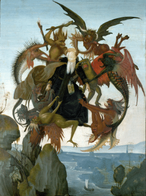 paintingispoetry:Michelangelo, The Torment of Saint Anthony, 1487: paintingispoetry:Michelangelo, The Torment of Saint Anthony, 1487