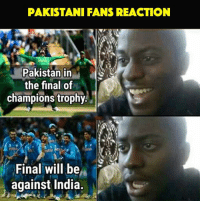 😂😂: PAKISTANI FANS REACTION  Pakistan in  the final of  champions trophy  Final will be  against India. 😂😂