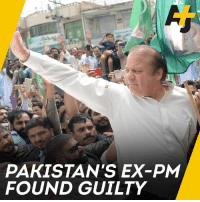 A former Pakistani leader has been sentenced to prison for corruption.: PAKISTAN'S EX-PM  FOUND GUILTY A former Pakistani leader has been sentenced to prison for corruption.