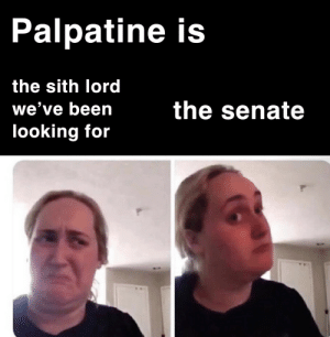 *sheev cackling intensifies*: Palpatine is  the sith lord  the senate  we've been  looking for *sheev cackling intensifies*