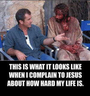 Jesus, Life, and How: PAN  THIS IS WHAT IT LOOKS LIKE  WHEN I COMPLAIN TO JESUS  ABOUT HOW HARD MY LIFE IS Life is hard