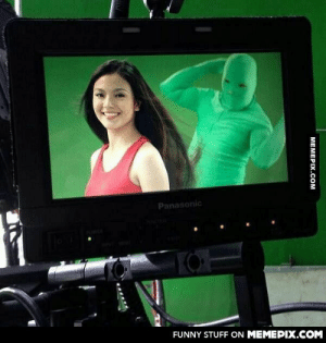 So this is a thing: Greenscreen-clad workers who secretly flip models' hair during shampoo commercialsomg-humor.tumblr.com: Panasonic  FUNNY STUFF ON MEMEPIX.COM  MEMEPIX.COM So this is a thing: Greenscreen-clad workers who secretly flip models' hair during shampoo commercialsomg-humor.tumblr.com