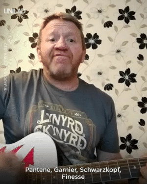 Dank, Wife, and Brilliant: Pantene, Garnier, Schwarzkopf,  Finesse This guy wrote a whole song about a dispute with his wife over the bathroom shelf and it's actually brilliant 😂😂