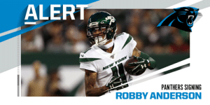 Panthers sign WR Robby Anderson to two-year, $20M deal. (via @RapSheet) https://t.co/pMfxTVPeZ8: Panthers sign WR Robby Anderson to two-year, $20M deal. (via @RapSheet) https://t.co/pMfxTVPeZ8