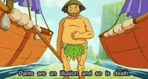 Diogenes first proposes his philosophy (382 BC): Pants are an ilusion and so is death Diogenes first proposes his philosophy (382 BC)