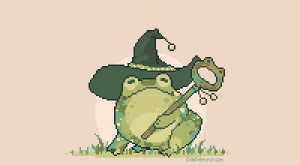 Target, Tumblr, and Best: Paper Finch paperfinch: paperfinch:   frog mage doing its best every day   that's the spirit