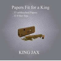 """Pre-order KingJax rolling papers today and get free shipping plus 10% off using promo code """"Jax"""" at checkout. Roll like a king with premium unbleached papers filter tips that are included in every booklet. @kingjax_smoking: Papers Fit for a King  33 unbleached Papers  IN  KING JAX Pre-order KingJax rolling papers today and get free shipping plus 10% off using promo code """"Jax"""" at checkout. Roll like a king with premium unbleached papers filter tips that are included in every booklet. @kingjax_smoking"""
