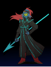 Target, Tumblr, and Blog: paperseverywhere:  Undyne in a Mindfang outfit :o thanks Tang, for the request!