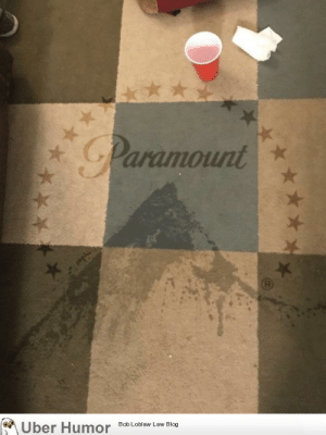 Tumblr, Blog, and Http: Paramount  on  ber Humor  8ob Loblaw Law Blog failnation:  I photoshopped the Paramount logo onto a spilled drink