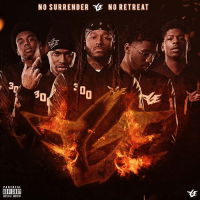 "Memes, Parental Advisory, and 🤖: PARENTAL  ADVISORY  NO SURRENDER YlE NO RETREAT  30 @montanaof300 x @mobshitsavage x @talleyof300 x @jalynoffge x @no_fatigue - ""NO SURRENDER, NO RETREAT"" Album drops FEB. 11TH!!!!! WingsUp FGEshit artwork: @chraedayoffge"