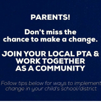 """PARENTS!  Don't miss the  chance to make a change.  JOIN YOUR LOCAL PTA &  WORK TOGETHER  AS A COMMUNITY  Follow tips below for ways to implement  Change in your child's School district PARENTS SchoolsOpen 📓📚 Don't miss your opportunity to make a difference in your children's school(where they spend so much of their day) BACK-TO-SCHOOL night is happening all over the country: Tips for change: 1. Join the PTA & attend meetings. If you can't be there send someone in your place. 2. This is your chance to have your children's school-district change their policy on food, plastics, organic garden etc. Let your voice be heard. 3. Volunteer - the best way to implement the changes you want seen is to volunteer. Share your strengths with each other. When my kids were young I was the """"Health & Safety"""" chairperson. We got hotdogs & soda banned from being served. Woohoo!💚 4. Find out what agricultural treatments are used on the school playground and sports fields. 5. Find out if there is a recycling and-or compost program at school. 6. Learn about the foods served at your children's school. Are they healthy foods? Where did the foods come from? 7. Initiate a ban on plastic bags in schools. 8. Have fund raisers to benefit a sustainable lifestyle at school: Raise money for: *Stainless steel lunch boxes and sandwich containers for all students *Wood for raised beds for organic gardens *Metal recycling containers in each classroom *Removal of all vending machines that serve drinks in plastic containers & replace with a stainless steel water cooler:dispencer * Installation of classroom sinks. Handwashing remains the number one way to prevent sharing of germs* These topics can be brought to parents employers. Many corporations will sponsor healthy alternatives. DID YOU KNOW: An Organic School Garden has endless possibilities in learning and health. Your child could eat a salad at the peak of nutrition. And they will when they grew it themselves.💚 OrganicAgriculture can be taught via e"""