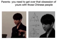 """Memes, 🤖, and Daughter: Parents: you need to get over that obsession of  yours with those Chinese people  e"""" cos e i sin  e MY mom said to my aunt """" oh and my daughter she's INLOVE with those Chinese singers !!!"""" 😭😂"""