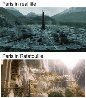 Reality is often disappointing: Paris in real life  Paris in Ratatouille Reality is often disappointing