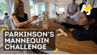 Memes, Mannequin, and 🤖: PARKINSON'S  MANNEQUIN  CHALLENGE There's no cure for Parkinson's disease. This mannequin challenge wants to tell you that for those with Parkinson's, every day is a challenge.