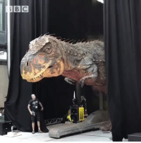 Dinosaur, Target, and Tumblr: parks-and-rex: steampunktendencies: Giant animatronic dinosaur outside bbc hq! Wow!Credits: BBC  No.