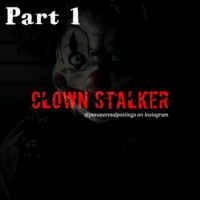 "Part 1  CLOWN STALKER  @paranormal  on instagram This is not a scary story, this is a horror story. - I really hope this is some sort of deranged joke. I guess I can understand how a simple joke could get out of hand. However, it has started to reach the point where I am truly terrified. I don't think I fit the standard victim profile in stalker cases. First off I am a big guy, 6'3'' 205 lbs to be exact, and I was a member of the University football team before a season ending injury. I keep to myself and like to think I lead a pretty simple life. - These days my life basically revolves around school, work, my girlfriend, and video games. Someone has apparently taken an interest in me. This isn't your standard case of stalking either. It is not a crazy ex-girlfriend or some deranged admirer making a pitiful stab at friendship. This is something much, much darker. - It all started a few weeks ago when my cell phone started ringing with calls from a blocked number at odd hours of the night. At first I only encountered silence during these calls, but my stalker seemed to gain confidence with each call. Over the course of this past month silence turned into heavy breathing which evolved into him speaking to me. The conversations are always the same. Here is an example of a call from a few days ago. - ""You need to stop calling me."" I demanded immediately upon answering the call. A low, raspy voice responded, ""Won't you please come outside and play?"" Ignoring the question I say, ""Who is this and who gave you my number."" He voice changes and he shrilly cries into the phone, ""Please, please why won't you come outside and play with me?"" - At that point I hung up. I was not going to play games with this guy. I even called my cell phone company and had them give me a new phone number. A few days passed and I thought I had lost the guy. No such luck. Yesterday morning I found a picture of a clown holding a hammer taped to the front door of my apartment. - When ready comment ""💙"" for part 2!!! ☺ scary spooky creepy horror haunted terror nightmare paranormalpostings scarystories latenightpost halloween"