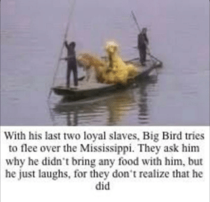 Part 2 of: big bird being a murderer: Part 2 of: big bird being a murderer