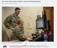 "Office, Russian, and Strategy: Part of new cyber strategy to identify, track, warn Russian operatives.  SEAN GALLAGHER- 10/23/2018, 5:10 PM  6906  120  OFFICE  Enlange / Cyber airmen cybering in the cyberspace  US ( yter ( .ornnland (U  (OM) is cing""jagini: inacampaigniodçNKY İliriter  7ス Arstechnica knows cyber"