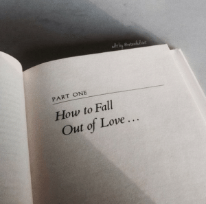 Fall, Love, and How To: PART ONE  How to Fall  Out of Love..