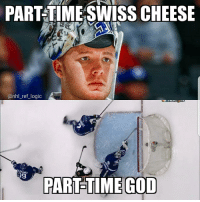 God, Logic, and Memes: PART-TIME SWISS CHEESE  @nhl_ref_logic  EKANEC  PART-TIME COD Freddy Anderson is peak inconsistency but a god among men tonight