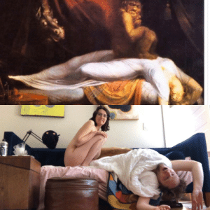 "Partner and I trying to find something to do with our Sunday afternoon. ""The nightmare""- 1781 Henry Fuseli: Partner and I trying to find something to do with our Sunday afternoon. ""The nightmare""- 1781 Henry Fuseli"
