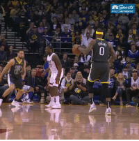 Pass of the Night: Klay Thompson throws the ball off Boogie's head then knocks down the jumper!   (Via @NBCSWarriors)  https://t.co/tiUSeKPcDR: Pass of the Night: Klay Thompson throws the ball off Boogie's head then knocks down the jumper!   (Via @NBCSWarriors)  https://t.co/tiUSeKPcDR