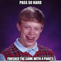 Bad, Fac, and Meme: PASS SO HARD  FINISHED THE GAME WITH 4 POINTS  Brought By Fac  ebook  com WNBA Memes  atipi Meme com The Black Mamba: Bad Luck Brian Edition! Credit: PBA and NBA World  http://whatdoumeme.com/meme/lyk6wm