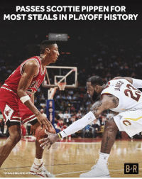 Another milestone for the King.: PASSES SCOTTIE PIPPEN FOR  MOST STEALS IN PLAYOFF HISTORY  B R  STEALS  BECAME OFFICIAL IN 1973 Another milestone for the King.