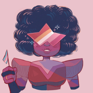 Tumblr, Blog, and Lesbian: passionpeachy:  (garnet voice): we gotta fight for trans lesbian rights, steven