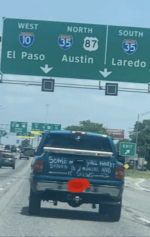 Passive aggressive driving in Texas.: Passive aggressive driving in Texas.