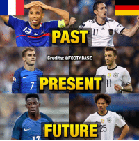 Forwards of France and Germany over the last 20 years 😍 Which side do you prefer, 🇫🇷 or 🇩🇪? 👇 Double Tap & follow me @footy.base for more! ❤️: PAST  Credits: @FOOTYBASE  PRESENT  FUTURE  25 Forwards of France and Germany over the last 20 years 😍 Which side do you prefer, 🇫🇷 or 🇩🇪? 👇 Double Tap & follow me @footy.base for more! ❤️